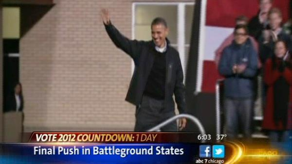 Barack Obama, Bruce Springsteen rally Wisconsin voters on last day before presidential Election Day