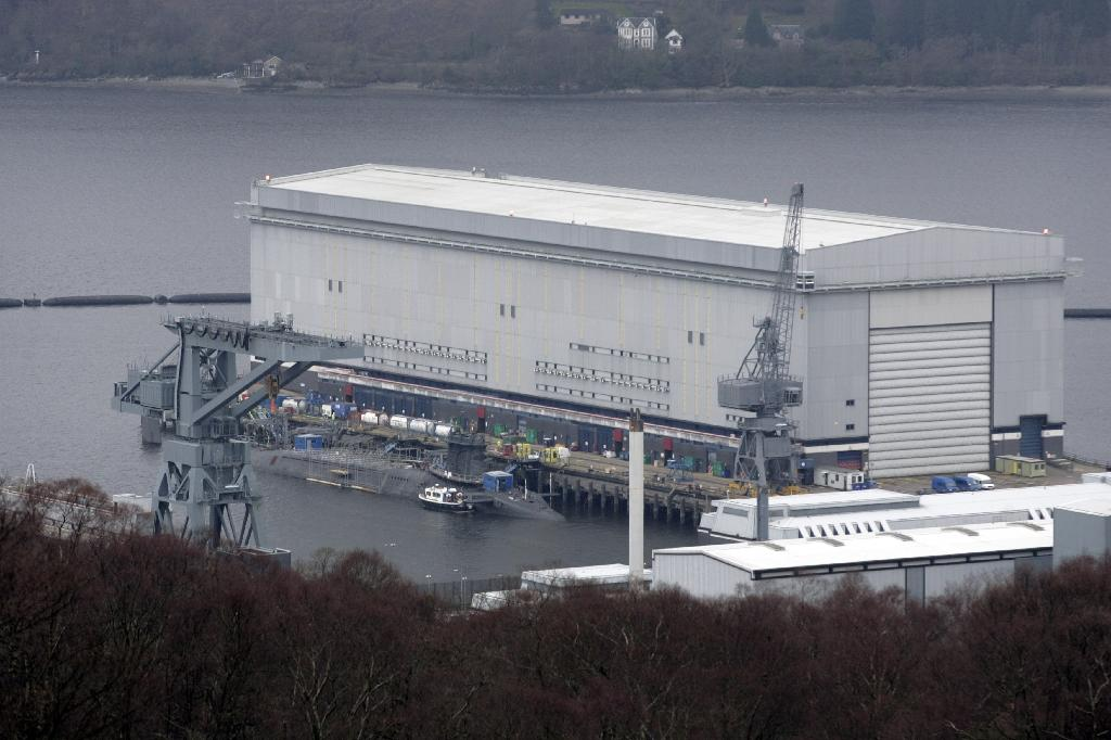 Britain announces investment in Scottish naval base