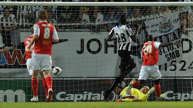 Sammy Ameobi he scores his sides second goal