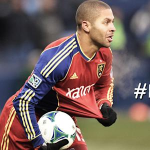 GOAL: Alvaro Saborio finishes off a fantastic feed from Kyle Beckerman