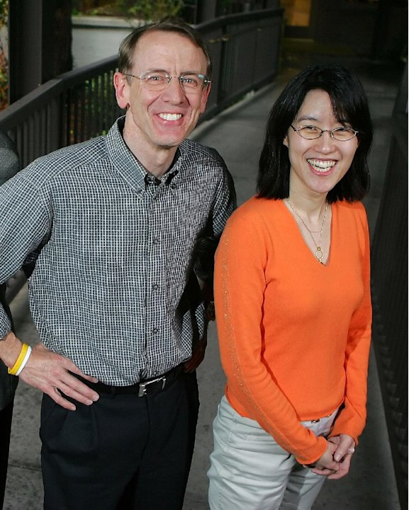 FILE - In this April 4, 2006 file photo, venture capitalist John Doerr poses for a portrait with partner Ellen Pao outside of their office in Menlo Park, Calif. San Francisco Superior Court Judge Haro