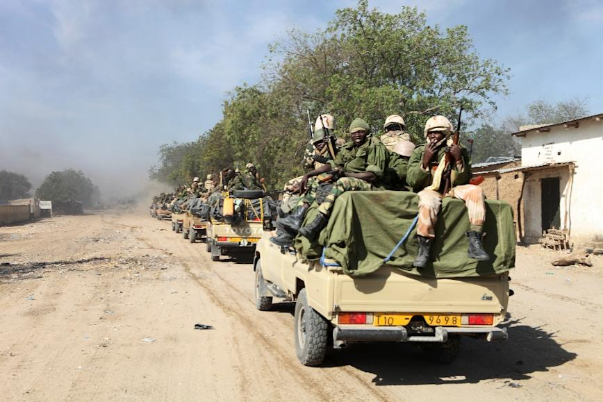 A military offensive by troops from Chad and Niger has retaken the northeastern Nigerian town of Damasak