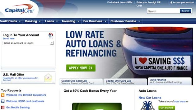 Capital One Website Disrupted (ABC News)