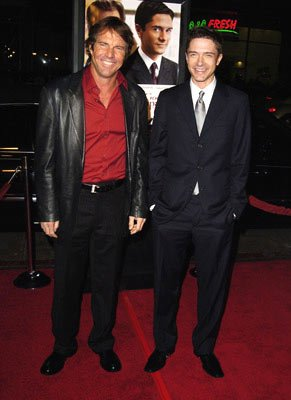Premiere: Dennis Quaid and Topher Grace at the Hollywood premiere of Universal Pictures' In Good Company - 12/6/2004