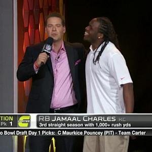 Pro Bowl Draft: Kansas City Chiefs running back Jamaal Charles goes No. 5