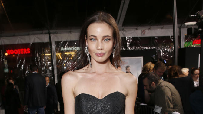 "Stephanie Corneliussen arrives at the premiere of ""Hansel & Gretel Witch Hunters"" on Thursday Jan. 24, 2013, in Los Angeles.  (Photo by Todd Williamson/Invision/AP)"