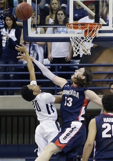 Stockton, Olynyk lead No. 7 Zags over USD, 65-63