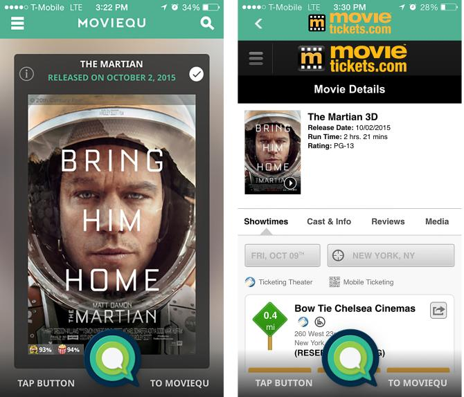 MovieTickets.com Pacts With App Startup MovieQu