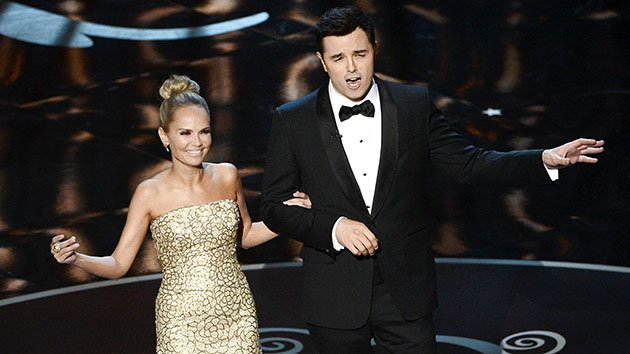 Oscar host Seth MacFarlane and Kristin Chenoweth