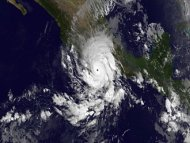 This infrared image of Hurricane Raymond was taken on Oct. 21, 2013, at 1200 UTC/8 a.m. EDT when it was a major hurricane and it was lashing western Mexico.