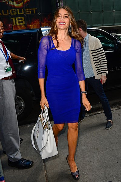 Arriving for an appearance on Good Morning America, August 2012