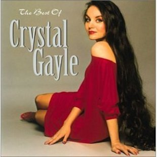 Crystal Gayle at drag length.
