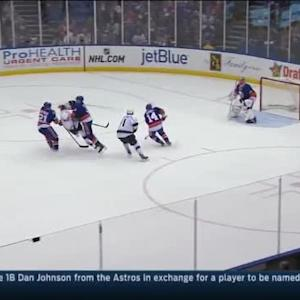 Travis Hamonic Hit on Justin Williams (10:33/1st)