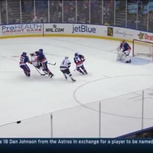 Travis Hamonic Hit on Justin Williams (10:33/1st)