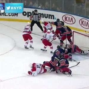 Henrik Lundqvist Save on Eric Staal (19:44/1st)