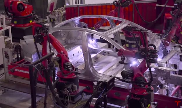 Video offers a rare glimpse inside Tesla's Model S and Model X factory