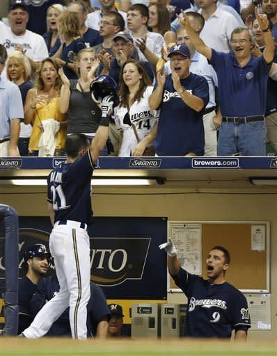 Ransom's grand slam leads Brewers to 10-7 win