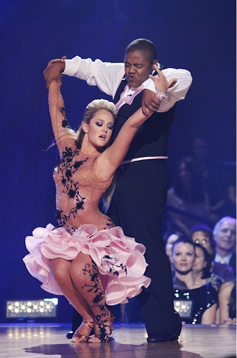 "Lacey Schwimmer and Kyle Massey perform on ""Dancing with the Stars."""