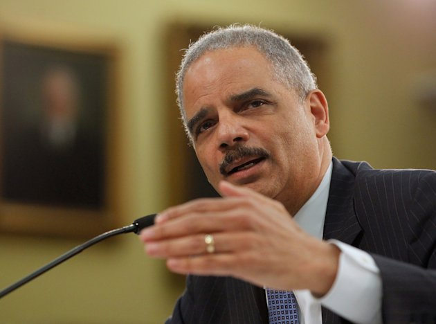 <p> Attorney General Eric Holder testifies on Capitol Hill in Washington, Thursday, April 18, 2013, before the House Appropriations Committee hearing on the Justice Department's fiscal 2014 budget. (AP Photo/Molly Riley)