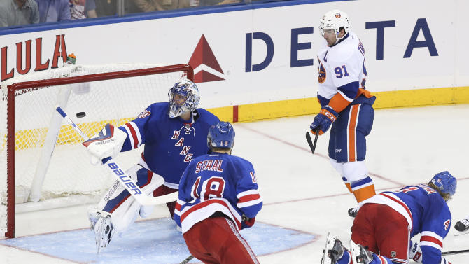 Undefeated Isles break out in 3rd, top Rangers 6-3