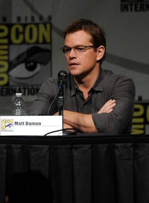 Matt Damon speaks during Sony's 'Elysium' panel during Comic-Con 2012 in San Diego on July 13, 2012 -- Getty Images