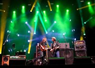Phish performs during the Bonnaroo Music and Arts Festival in Manchester, Tenn., Sunday, June 10, 2012. (AP Photo/Dave Martin)