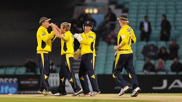 Hampshire players celebrate