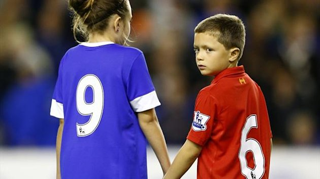 Everton&#39;s mascots formed part of the tribute (PA Photos)