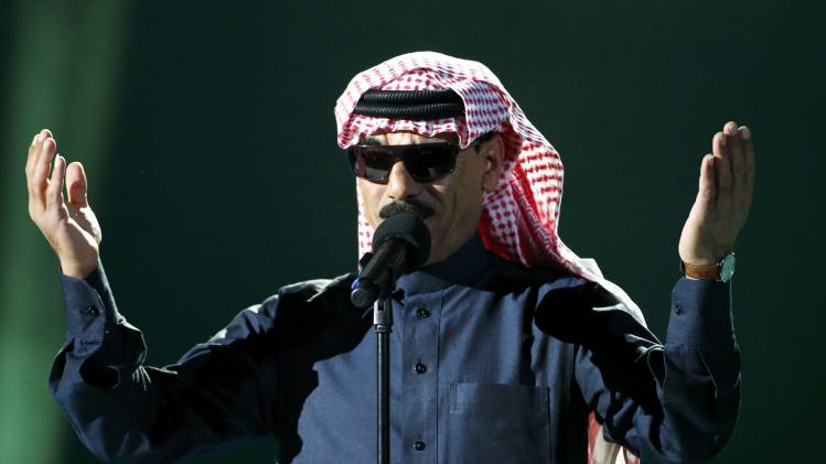 Syrian musician Omar Souleyman performs during the Nobel Peace Prize concert in Oslo