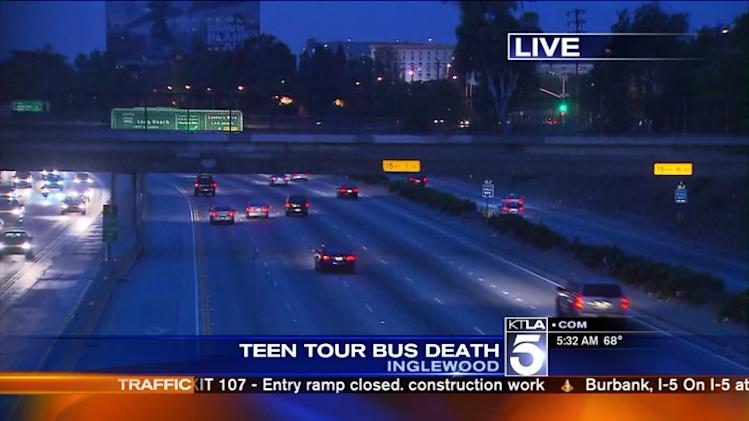 Manhattan Beach Teen Dies After Hitting 405 Overpass While Standing on Tour Bus