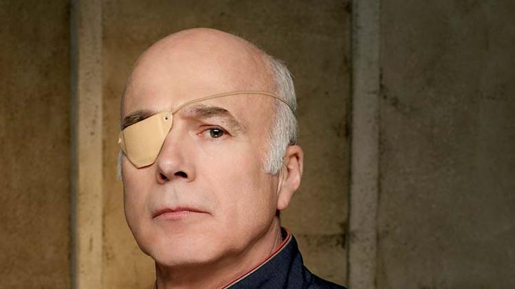 Michael Hogan as Col. Saul Tigh in Battlestar Galactica on the Sci Fi Channel.