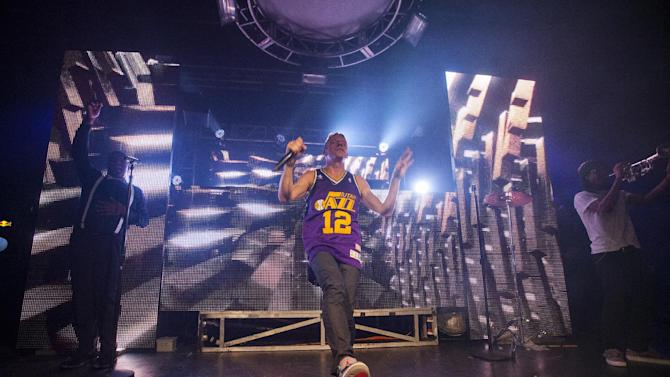 Macklemore of Macklemore and Ryan Lewis performs onstage at Park City Live Day 9 on Friday, January 25, 2013, in Park City, Utah. (Photo by Barry Brecheisen/Invision for Park City Live/AP Images)
