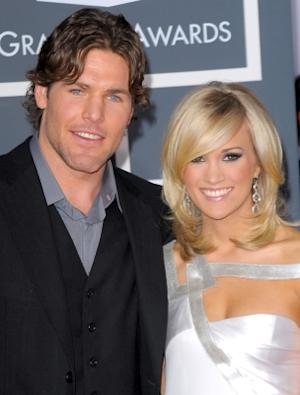 Mike Fisher and Carrie Underwood arrives at the 52nd Annual GRAMMY Awards held at Staples Center on January 31, 2010 -- Getty Images