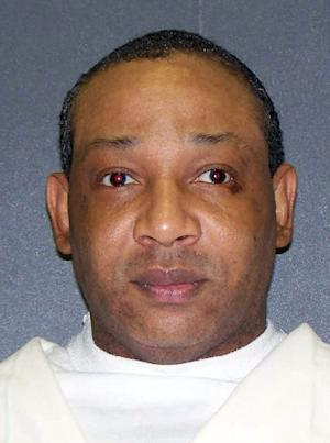 This undated photo provided by the Texas Department of Criminal Justice shows Rickey Lynn Lewis. Six months after he was paroled in early 1990 from a 25-year term for a third burglary conviction, Lewis was arrested for shooting and killing 45-year-old George Newman, raping Newman's fiancée and stealing her truck after breaking into the couple's home about 90 miles east of Dallas in Smith County. On Tuesday, April 9, 2013Lewis, 50, of Tyler is scheduled to become the second man executed in Texas this year. (AP Photo/Texas Department of Criminal Justice, File)