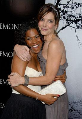 Nia Long and Sandra Bullock at the Hollywood premiere of TriStar Pictures' Premonition