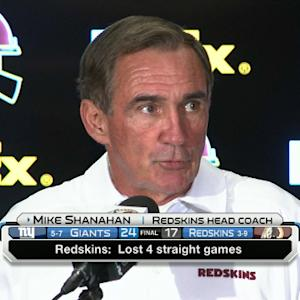 Washington Redskins coach Mike Shanahan addresses first-down controversy
