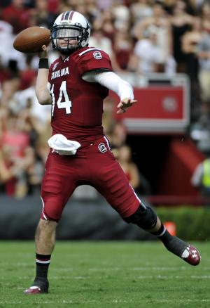 Shaw's 4 TDs lead No. 14 Gamecocks to 34-16 win