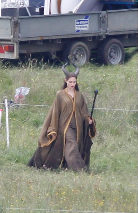 Spotted on Set Angelina Jolie