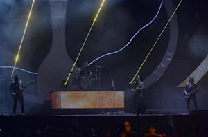 The Arctic Monkeys perform at the BRIT Awards, celebrating British pop music, at the O2 Arena in London