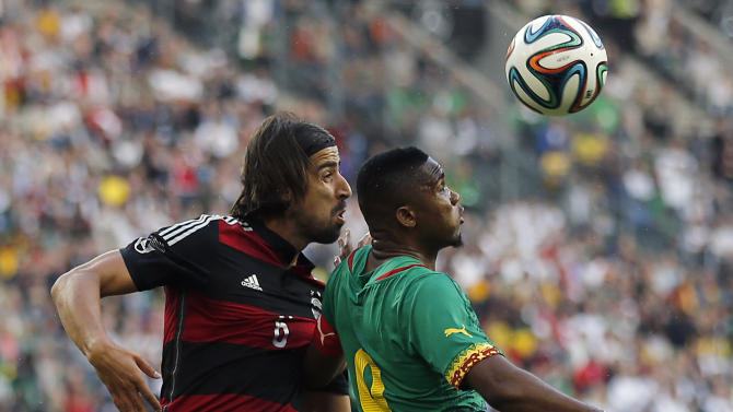 Germany draws 2-2 with Cameroon