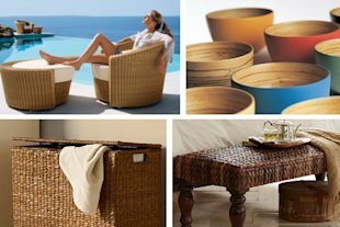 sustainable materials eco-friendly wicker bamboo banana leaf abaca bamboo jute rattan