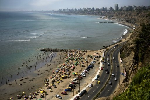 <p>This file photo shows a general view of La Costa Verde bay in Lima, pictured in 2010. The International Monetary Fund and the World Bank will hold their 2015 annual meetings in the Peruvian capital, the two Washington-based institutions announced on Friday.</p>
