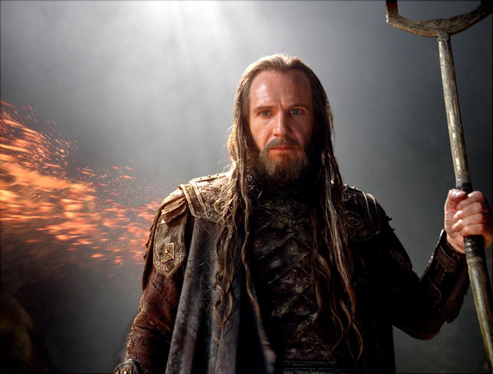 "In this film image released by Warner Bros., Ralph Fiennes portrays Hades  in a scene from ""Wrath of the Titans."" (AP Photo/Warner Bros. and Legendary Pictures)"