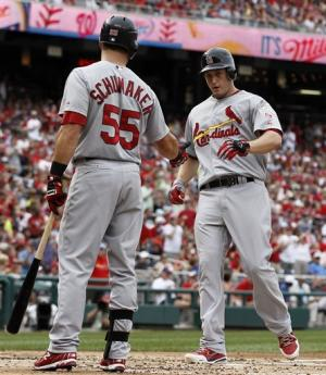 Freese powers Cardinals to win over Nationals