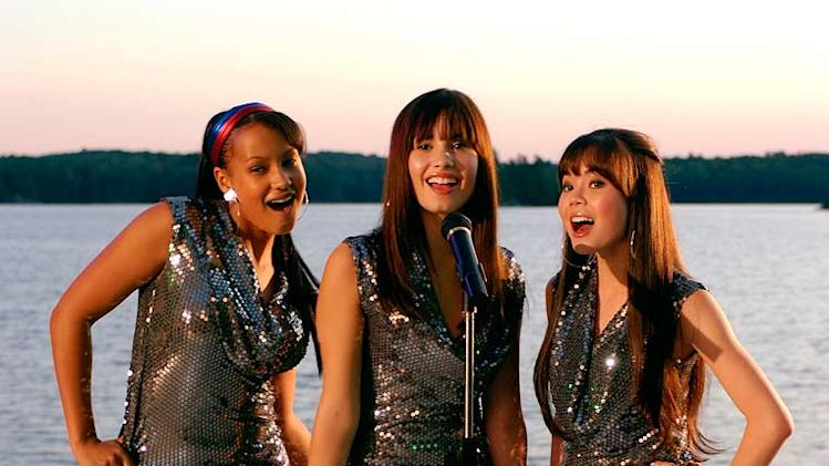 Jasmine Richards, Demi Lovato, and Anna Maria Perez de Tagle in Camp Rock.