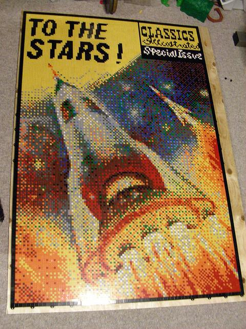 To the Stars! Lego Mosaic by Dave Ware