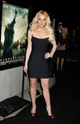 Lindsay Lohan at the Los Angeles premiere of Paramount Pictures' Cloverfield