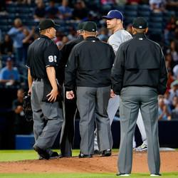 MLB Pitcher Ejected Because Of Foreign Substance On Arm