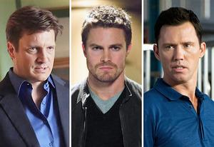 Nathan Fillion, Stephen Amell, Jeffrey Donovan | Photo Credits: Richard Cartwright/ABC; Jack Rowand/The CW; Glenn Watson/USA Network