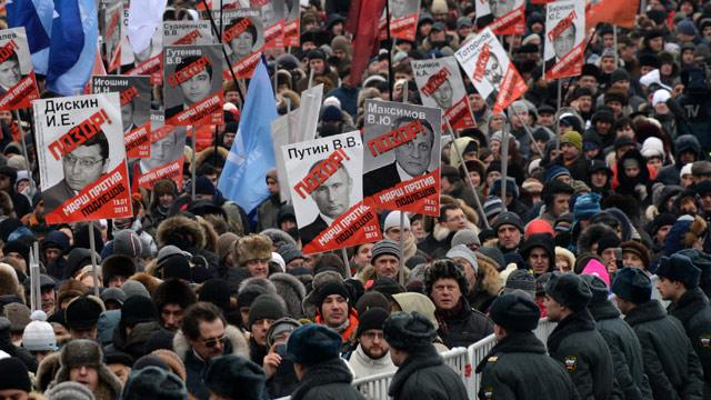 Thousands Protest in Moscow Against Ban on Adoptions to US